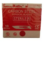 Swann Morton Number 15 Sterile Carbon Steel Scalpel Blades X10 Suit No. 3 Handle