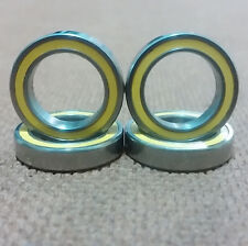 1/2 inch bore. 4 Radial Ball Bearing.Rubber.(1/2 X 3/4 X 5/32). Lowest Friction