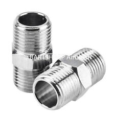 2 x Airbrush Air Hose Adaptor 1/8th BSP Male-1/8th BSP Male Airbrush Connector