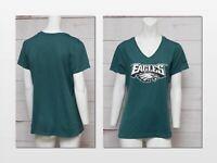 Womens LARGE Nike Philadelphia Eagles Green V Neck Short Sleeve T-Shirt NFL