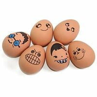 6 Assorted Expression Eggs Funny Face Stress Bouncy Balls for Christmas, Easter