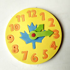 1 Piece Kids DIY Clock Learning Education  Toys Jigsaw Puzzle Game for ChildrenR