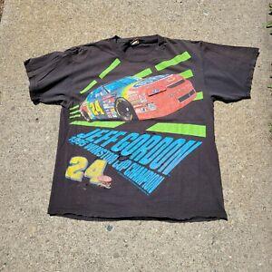 Vtg 1995 Jeff Gordon Double Sided All Over Print thrashed tee Nascar Racing XL