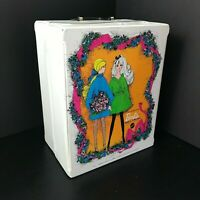 Vintage CLEAN 1968 World of BARBIE Mattel White Doll Trunk Carrying Travel Case