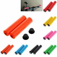 1Pair MTB Soft Silicone Foam Sponge Handle Bar Grips Handlebar Grip Bike Bicycle