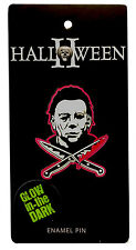 Authentic HALLOWEEN 2 Michael Myers Glow In The Dark Enamel Pin NEW
