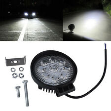 1*27W Universal Flood Round LED Lamp Light for off Road Motorcycle Cart Car IP67