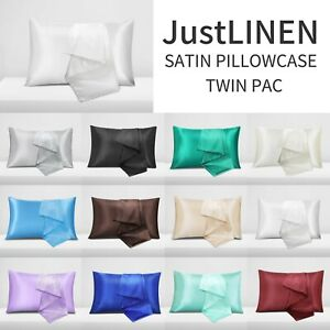 2X Satin Pillow Case Pillow Covers Bedroom Pillowcase Home Decor Luxury 2021 NEW