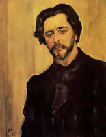 Oil painting Valentin Alexandrovich Serov Portrait of the Writer Leonid Andreev