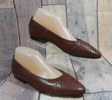 Life Stride Soft System Womens Brown Ballet Flats Loafers Slip-On Shoes Size 9 M