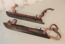 Antique Hand Made WOODEN ICE SKATES, Mid 1800's Civil War Era Americana #3 L&R