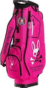 PSYCHO BUNNY Pink Golf Cart Caddy Bag SPORT CASUAL 9 x 46 inch 3.6kg F/S JP New