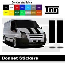 Bonnet Stripe Stickers Vinyl Decals Graphics For Ford Transit LWB MWB SWB Van