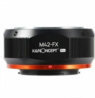 K&F Concept M42 Lens - Fujifilm Fuji X Camera Lens Mount Adapter Matting Varnish