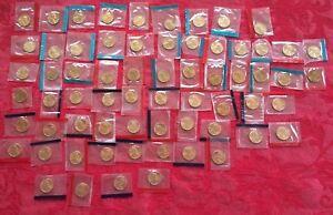 1968-P,D&S THRU 1981-P&D and 1984-1999 P+D LINCOLN CENTS  IN MINT CELLO 67 COINS