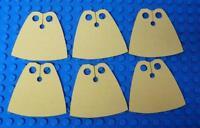 6x CUSTOM Capes For LEGO Minifig - Standard Cape BodyWear Yellow
