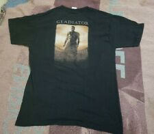 Vintage 2000 Gladiator Movie Promo T Shirt Size L Dreamworks Russell Crowe