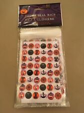 "Halloween Treat Bags Set of 40  Zipper Seal 3.8"" X 5.75"" Trick Or Treat"