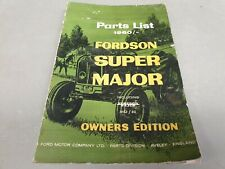 1952 - 1960 FORDSON SUPER MAJOR Tractor Factory Parts Book