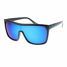 Kush Marijuana Pot Flat Top Shield Mob Reflective Color Mirror Lens Sunglasses