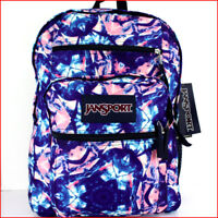 "Jansport BIG STUDENT 17.5"" Backpack - 34L X-Large COLORED GLASS Blue Purple Pink"