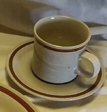 Vintage Autumn Collection Stoneware Wheat Flower ONE SET Cup and Saucer