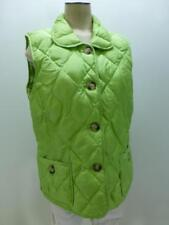 TALBOTS Duck Down quilted puffer shiny green winter b/u Vest jacket womens Large