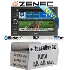Zenec Navigation für Audi A6 4b ab 2001 Bose 2DIN PKW Bluetooth USB Einbauset