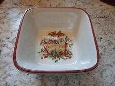 Longaberger Pottery Nature Garland Christmas Holiday Small Bowl Nib