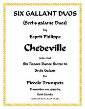 Piccolo Trumpet Duets 6 Gallant Duos by Chedeville Rococo 6 Suites of duets New