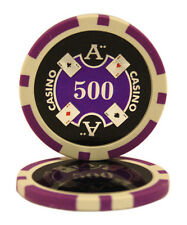 100pcs Ace Casino Laser Clay Poker Chips $500