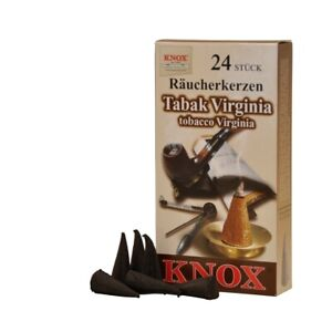 KNOX German Incense for Smoker Rauchermann Raucherkerzen Virginia Tobacco 2 PACK