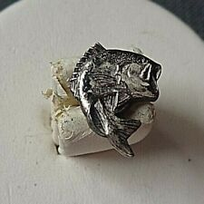 Sterling Silver Fish Tie Tack