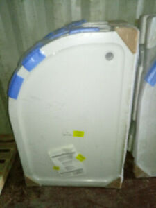 Shower Tray / Base  Stone Resin 1200 x 800 x 40mm Quadrant Left Hand White