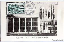 France Carte Maximum  1952 STRASBOURG CONSEIL DE L EUROPE   Yt 923