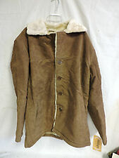 NEW MENS VINTAGE LEATHER COMPANY BROWN SUEDE LEATHER COAT SIZE LARGE