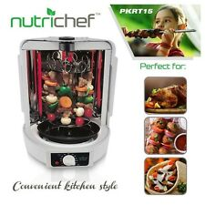 NEW NutriChef PKRT15 Vertical Countertop Rotisserie Rotating Oven 700 Watts