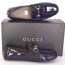 GUCCI New sz 35 G - 5.5 Horsebit Designer Womens Drivers Flats Loafers Shoes