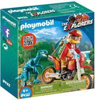 CJ9431 Moto con raptor 9431 playmobil dinosaurio explorers