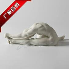 Modern Art Sculpture white ceramic Nude Hand pull Left foot man body statue