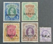 nystamps British India Stamp # O60//M14 Used $23
