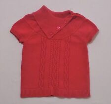 "Gymboree ""Berry Patch"" Jewel Buttons Berry Pink Cable Knit Pullover Sweater, 5-6"