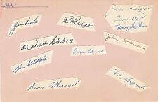 RUGBY - AUSTRALIA TOUR OF SOUTH AFRICA 1961 SIGNED ALBUM PAGE