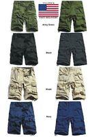Men's Army Military Pants Boys 6 Pockets Combat Trouser & Cargo shorts USA Stock