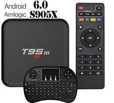 Android 6.0 HDMI Wifi TV Box T95M 2GB/8GB 4K 3D Amlogic S905X Quad Core+Keyboard