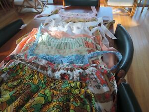 VINTAGE RETRO APRONS X 11 MIXED PATTERNS, STYLES & FINISHES