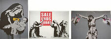 Banksy Madona - Sales ends today set of 3 ACEO giclee Prints Street Art graffiti