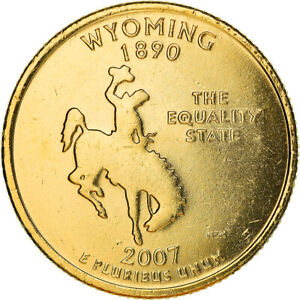 [#381150] Coin, United States, Wyoming, Quarter, 2007, golden, MS(60-62)