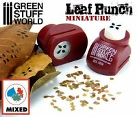 Miniature Leaf Punch - RED - Tool to make your LEAVES for dioramas - Leaf Maker