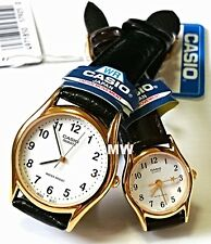CASIO DATE ANALOG LEATHER DRESS COUPLE LOVER PAIR WATCH MTP/ LTP-1094Q-7B GIFT